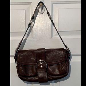 COACH 3653 Soho Leather Hobo Shoulder Bag EUC